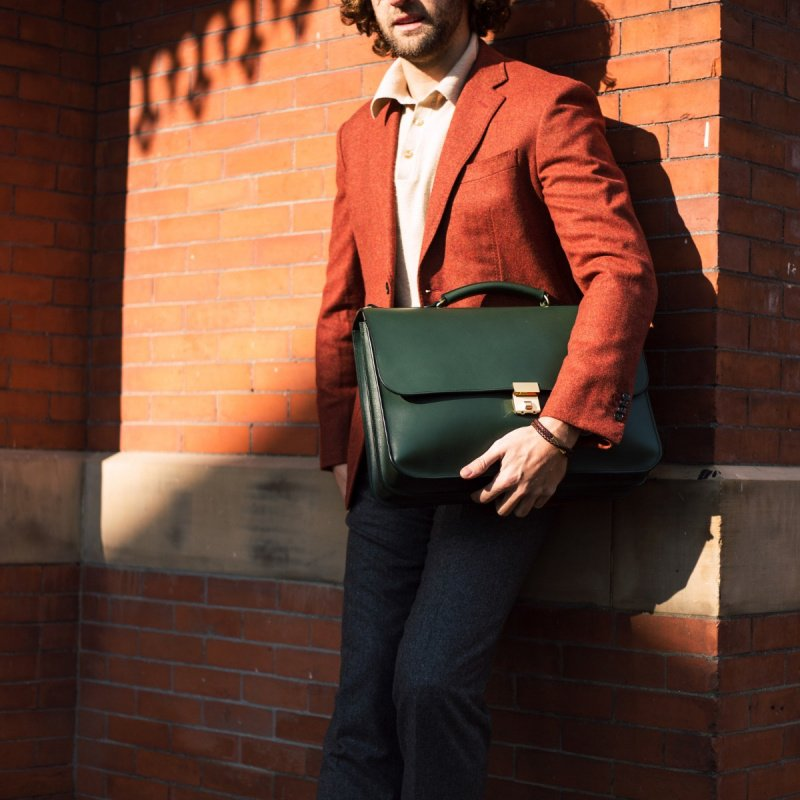 Birmingham Briefcase in Harness Belting Leather