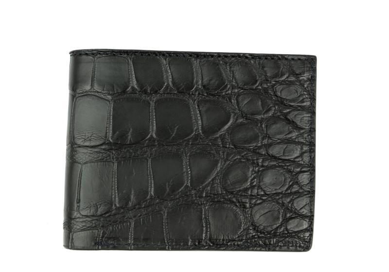 American Alligator Bifold Wallet-Black in
