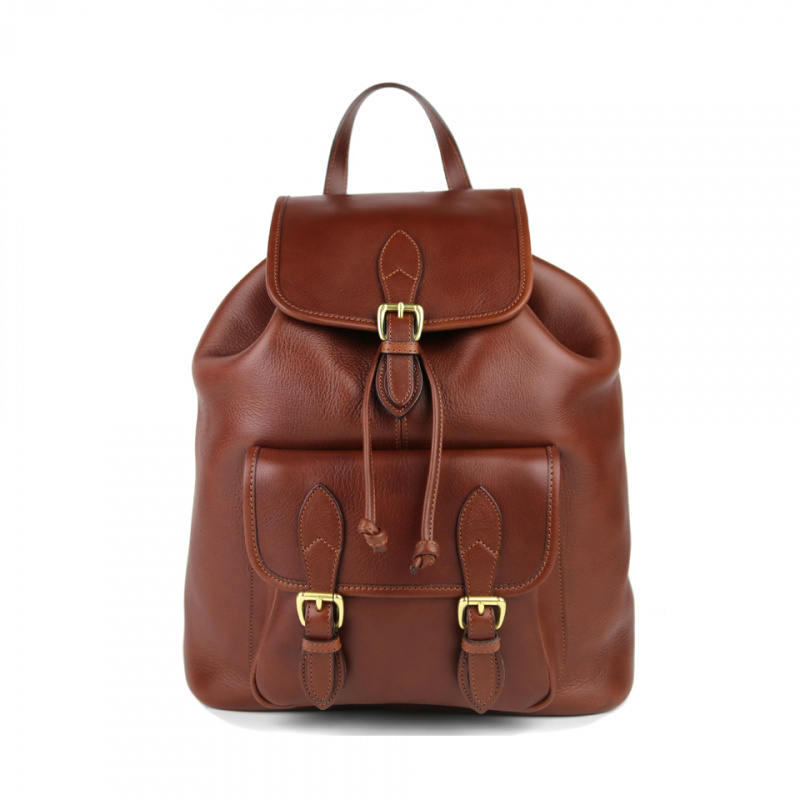 Classic Backpack in Smooth Tumbled Leather
