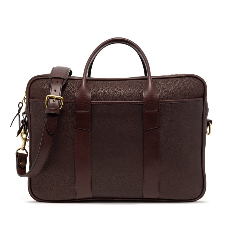 Chèvre Commuter Briefcase-Chocolate in