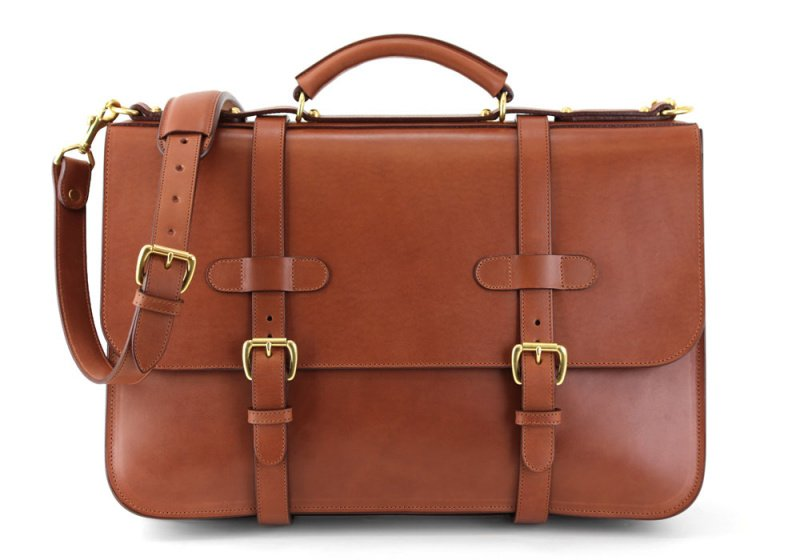 English Briefcase-Chestnut in