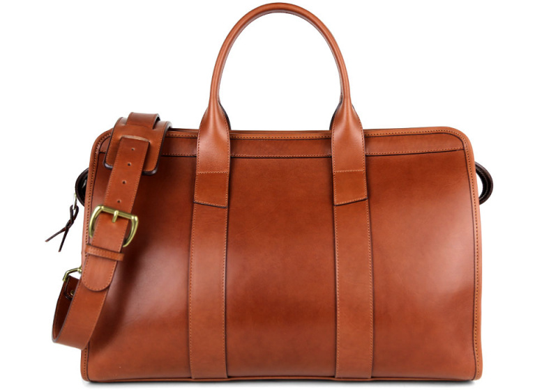 Small Travel Duffle-Lined-Chestnut in