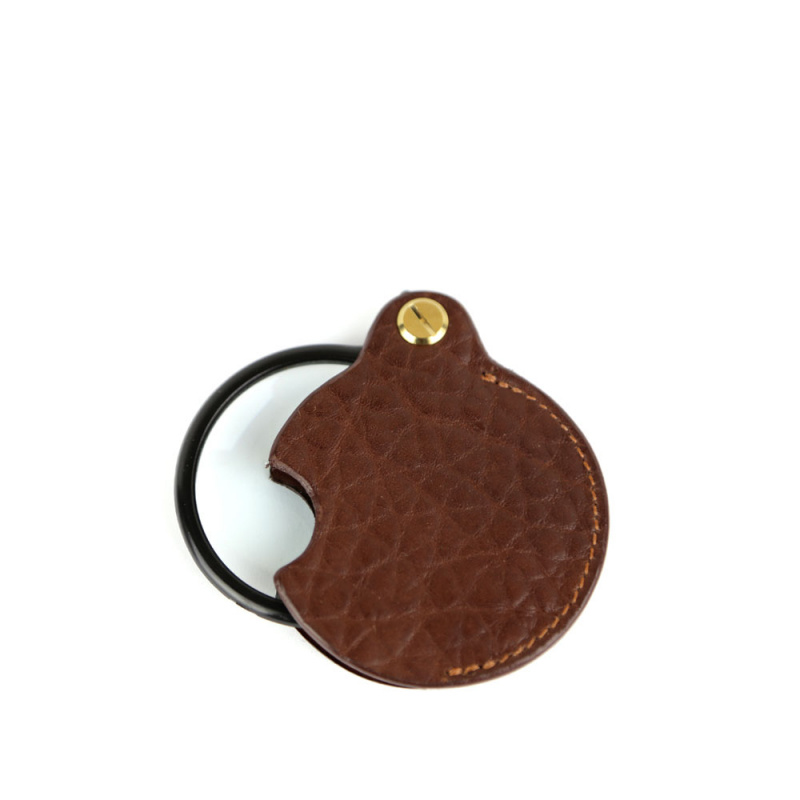 Pocket Magnifying Glass in Shrunken Grain Leather