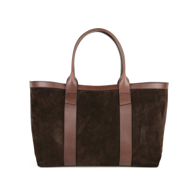 Large Suede Working Tote  in Suede