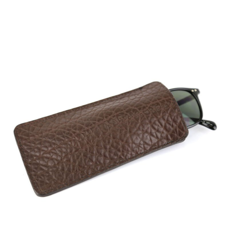 Eye Glass Case in Shrunken Grain Leather