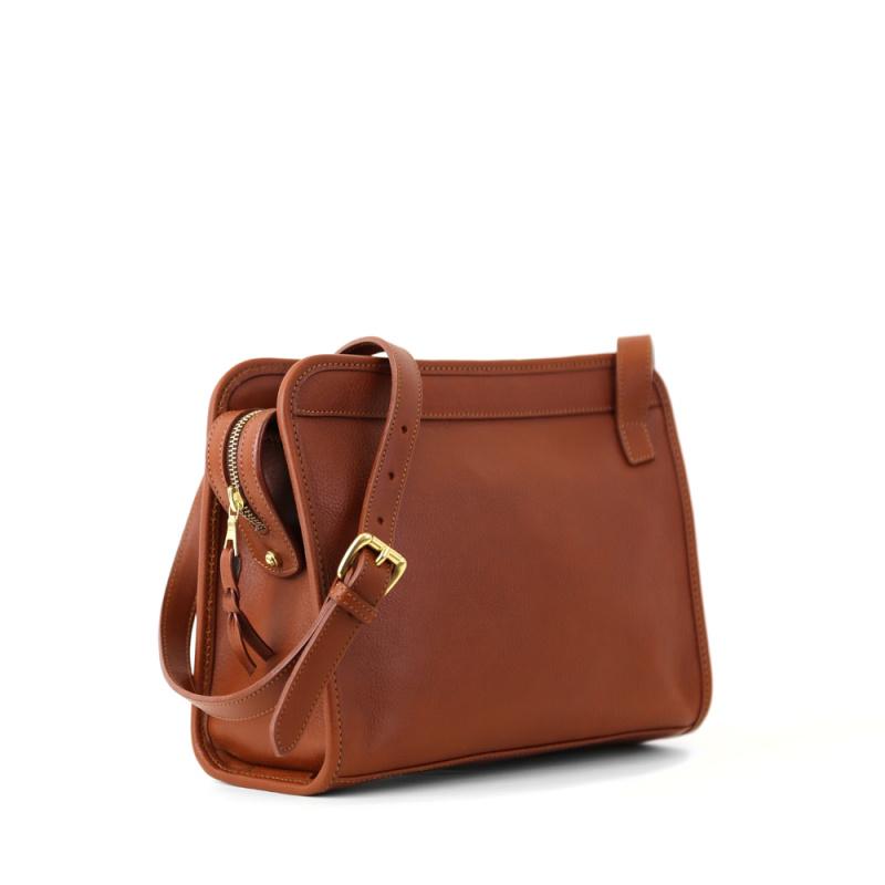 Blazer Shoulder Bag in Smooth Tumbled Leather
