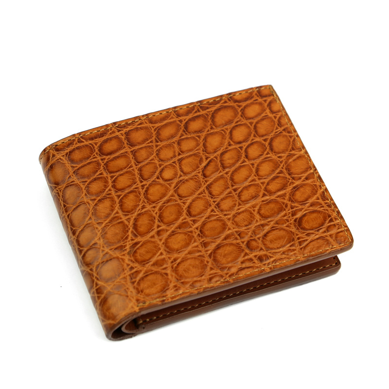 American Alligator Bifold Wallet in American Alligator