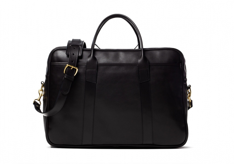 Commuter Duffle-Black in Smooth Tumbled Leather