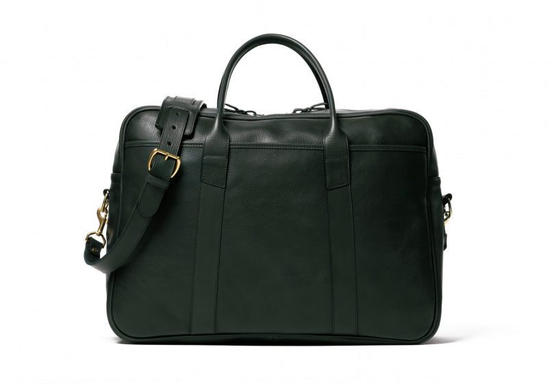 Commuter Duffle-Green in Smooth Tumbled Leather