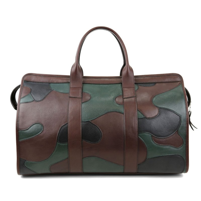 Camo Travel Duffle  in Smooth Tumbled Leather