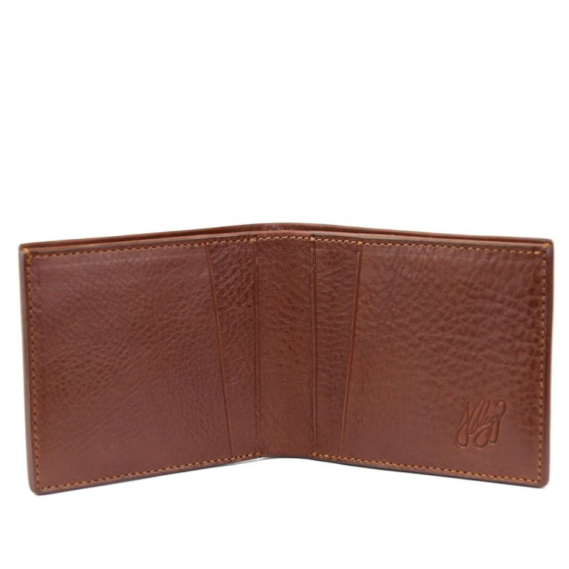 The Classic Wallet  in Smooth Tumbled Leather