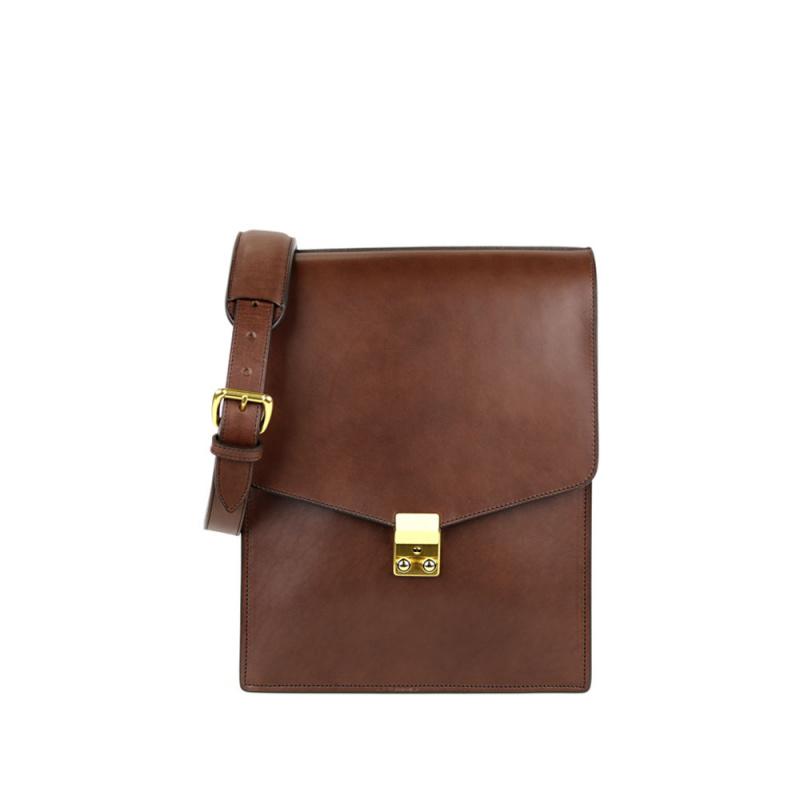 Lock Messenger Bag in Harness Belting Leather