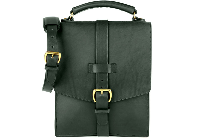 Buckle-Satchel-Green in