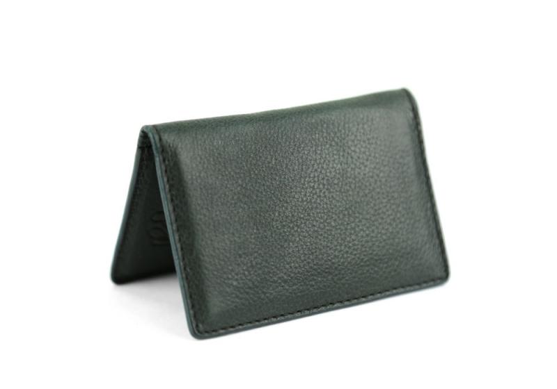 Folding Card Case-Green in