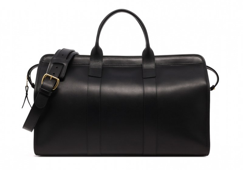 Signature Travel Duffle -Sunbrella Lining with Pocket-Black in