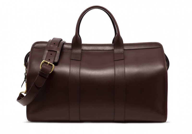 Signature Travel Duffle -Chocolate-Sunbrella Lining with Pocket in