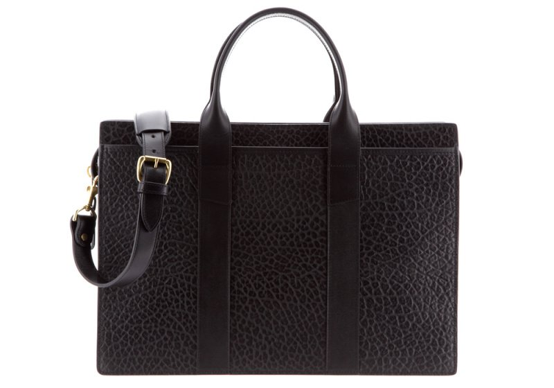 ZIP-TOP BRIEFCASE-Black-Double in