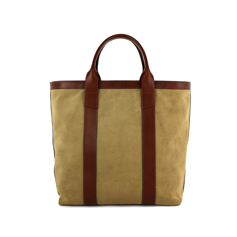 Suede Tall Tote  in Suede