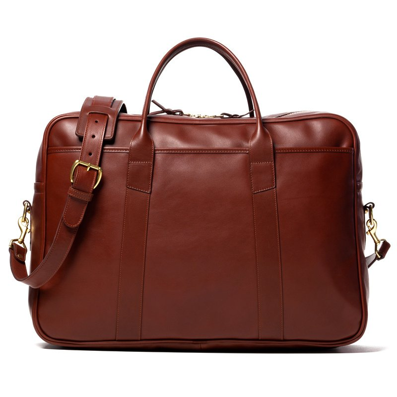 Commuter Duffle in Smooth Tumbled Leather