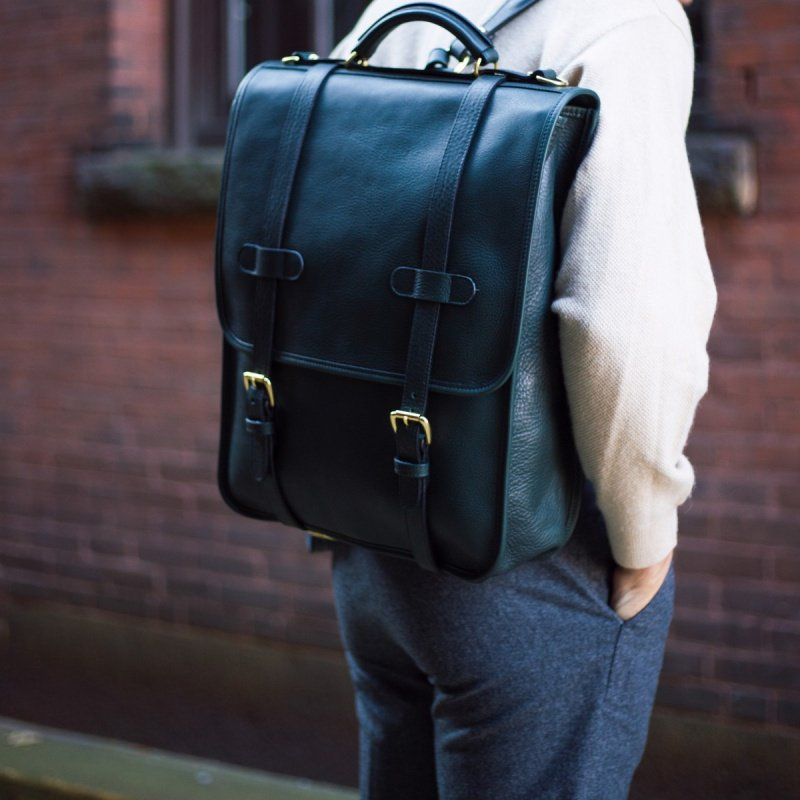 English Backpack in Smooth Tumbled Leather