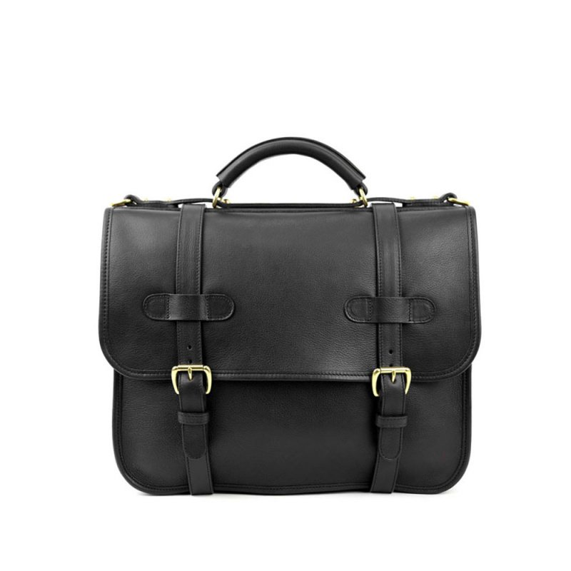 English Satchel in Smooth Tumbled Leather