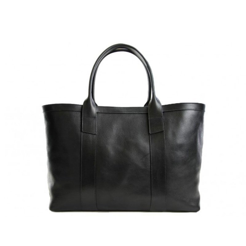 Large Working Tote in Smooth Tumbled Leather