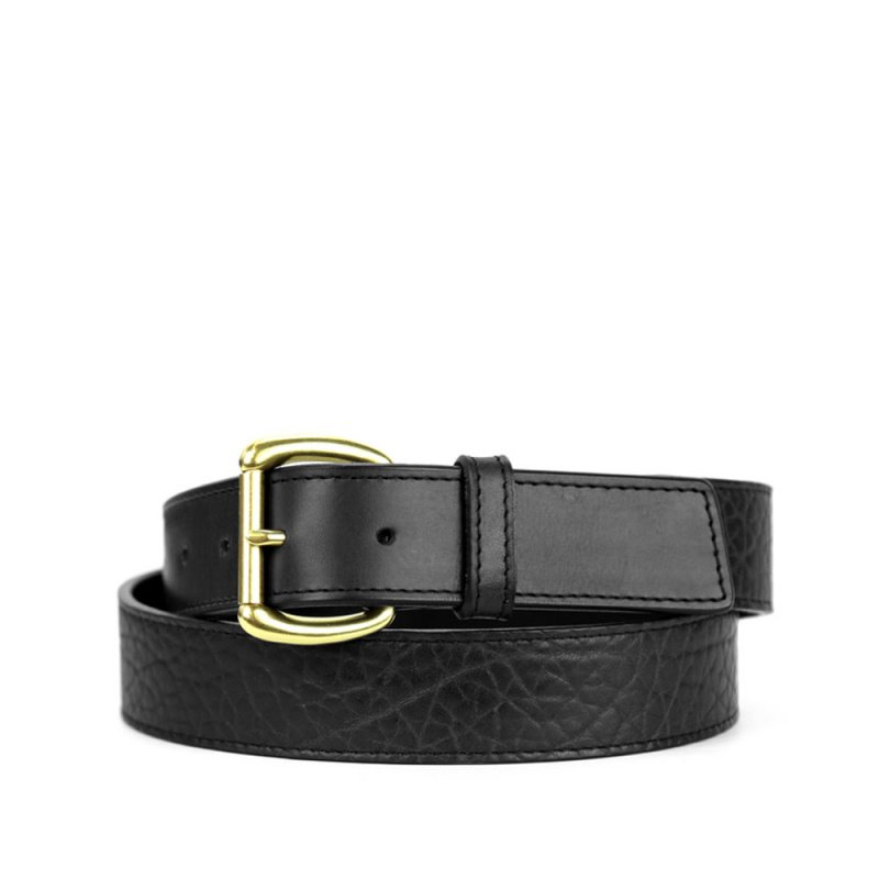 Shrunken Grain Leather Belt #1