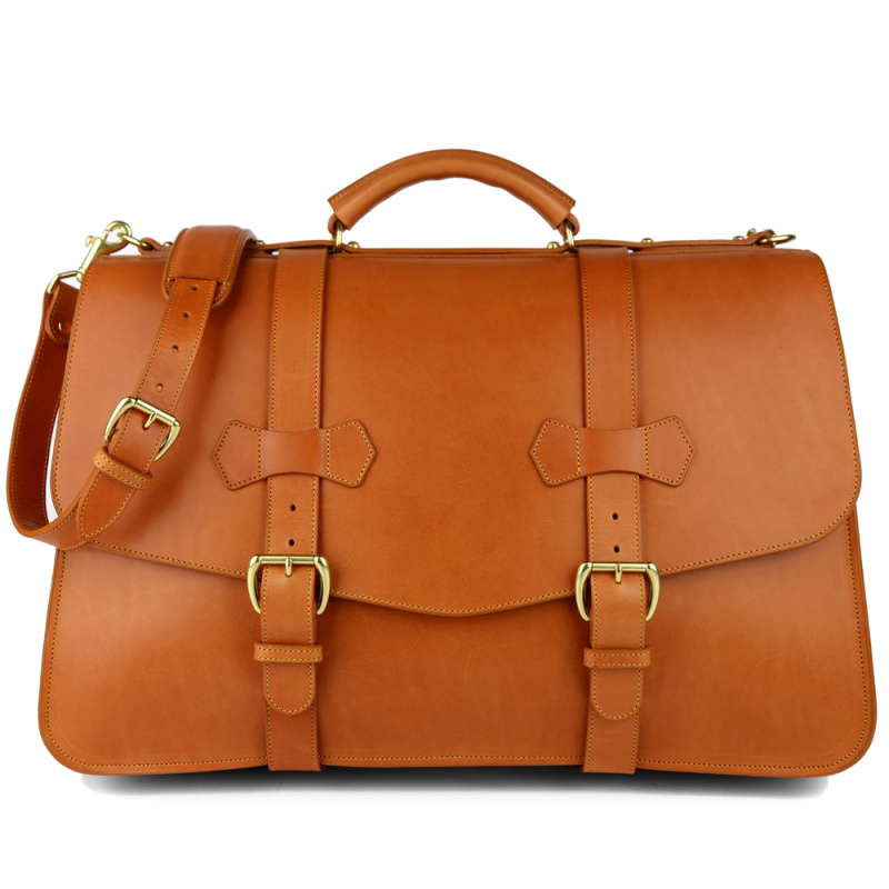 Lawyer's Briefcase in Harness Belting Leather