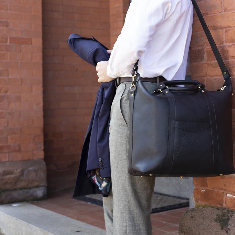 Hampton Zipper Tote in Smooth Tumbled Leather