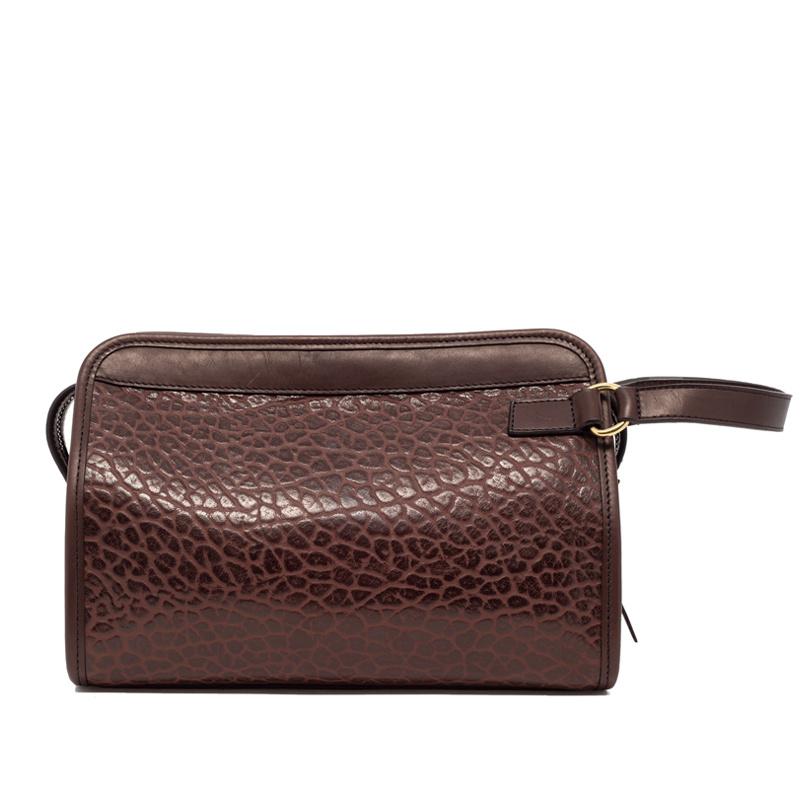 Large Travel Kit in Shrunken Grain Leather