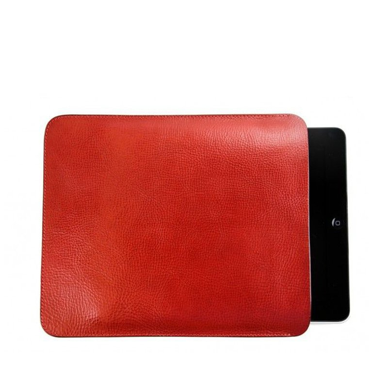 iPad Sleeve in Smooth Tumbled Leather