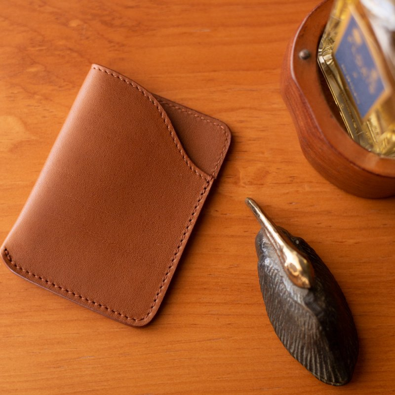 Card Wallet in Smooth Tumbled Leather