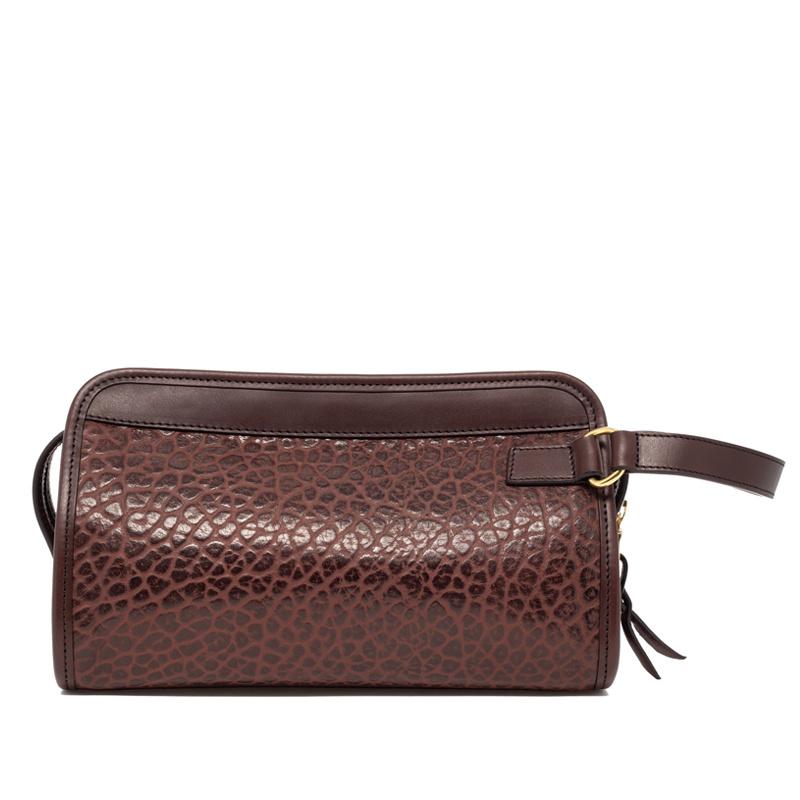Small Travel Kit in Shrunken Grain Leather