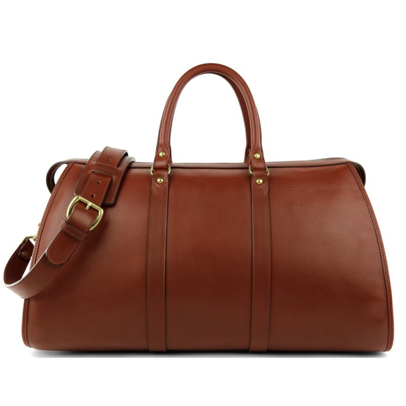 Hampton Travel Duffle  in Smooth Tumbled Leather