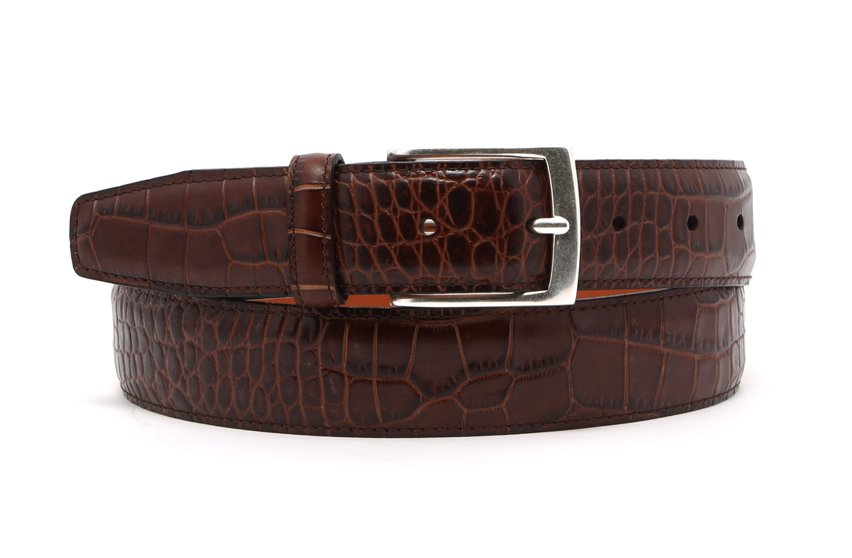 Croco Leather Belt Frank Clegg