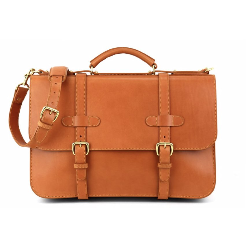 English Briefcase Tan