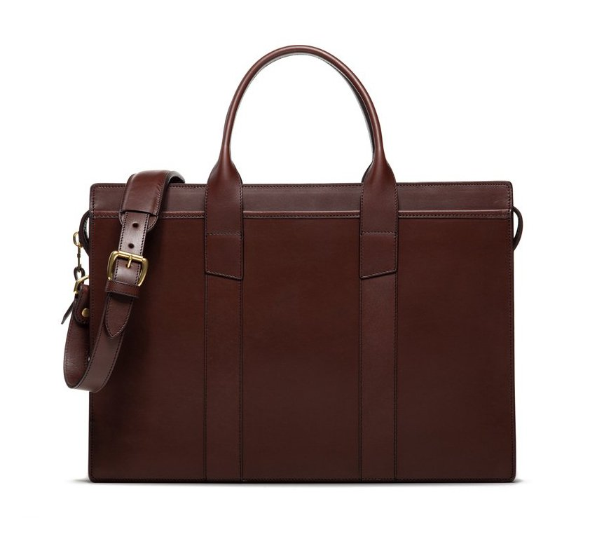 Leather Zip Top Briefcase 1