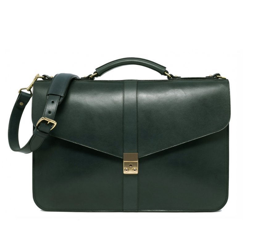 Lock Briefcase Green