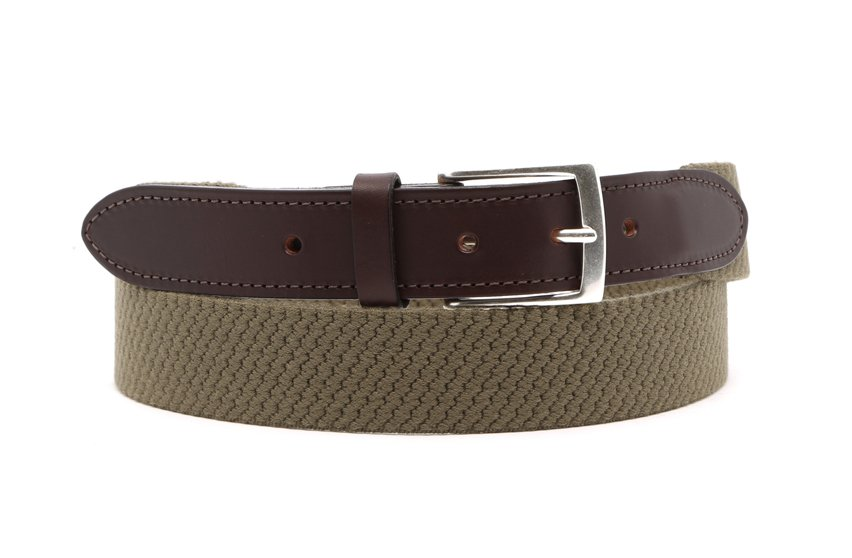 Olive Stretch Belt Frank Clegg