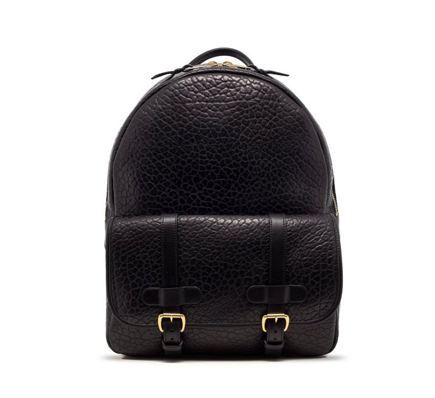 Pebbled Grain Zipper Backpack