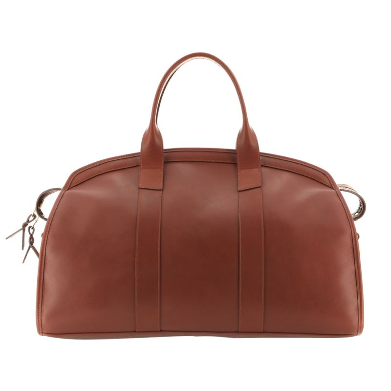 Aiden Duffle - Chestnut/Navy Interior - Smooth Tumbled Leather