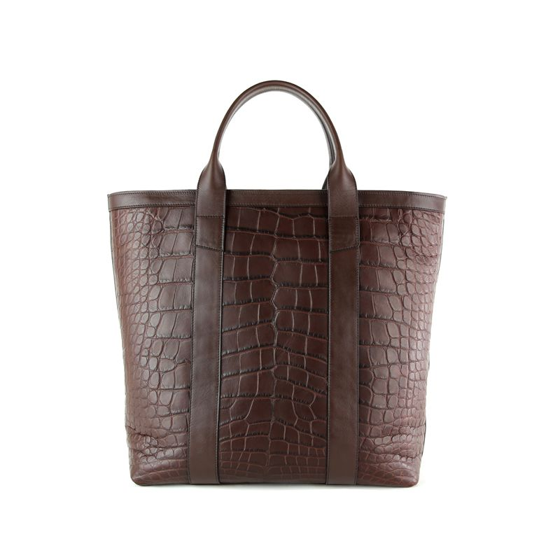 Alligator Zipper Tote Bag