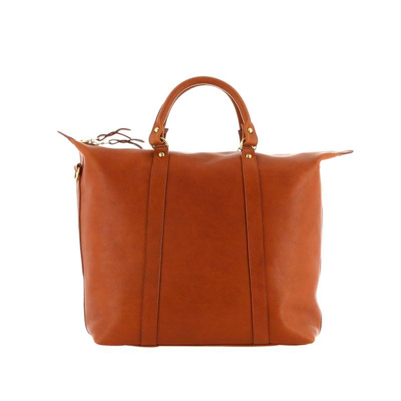 Hampton Tote - Cognac - Pebbled Tumbled Leather