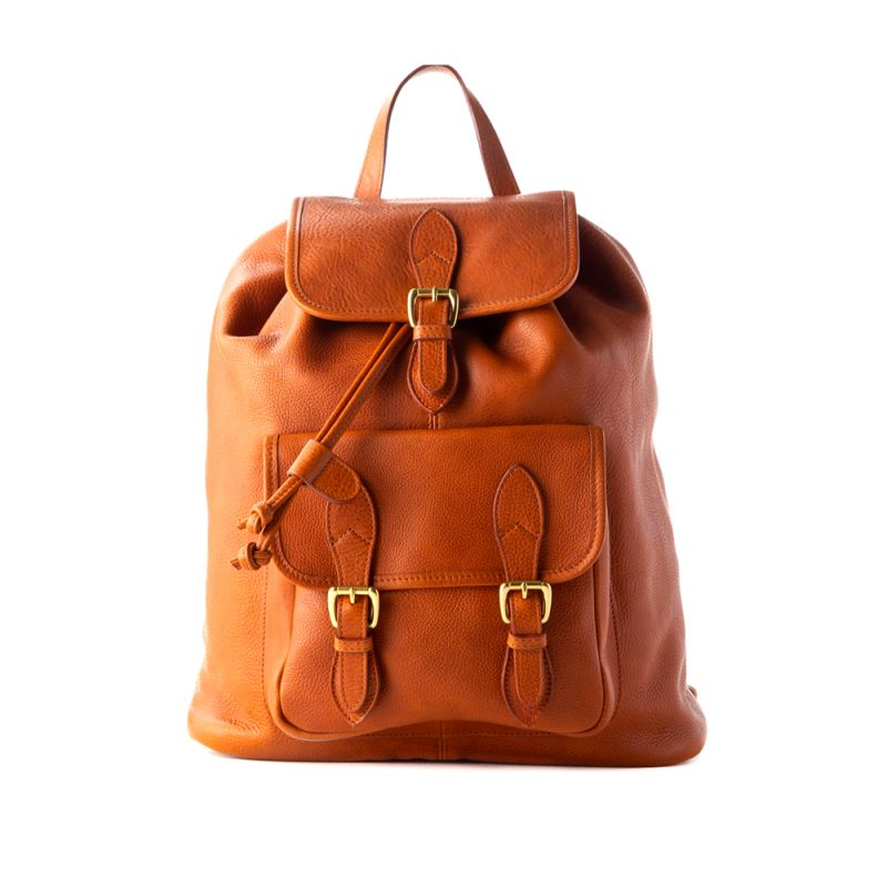 Classic Backpack - Cognac - Pebble Grain Leather