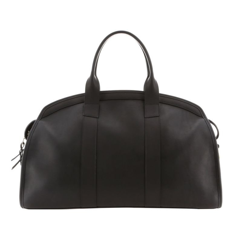 Aiden Duffle - Matte Black/Red Interior - Smooth Tumbled Leather