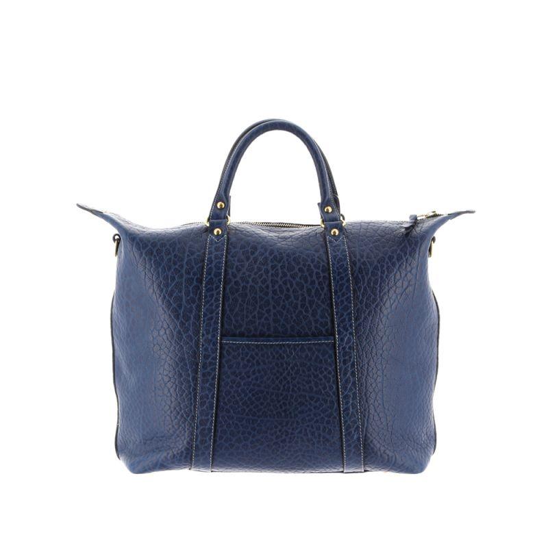 Hampton Tote - Deep Royal Blue - Shrunken Grain Leather