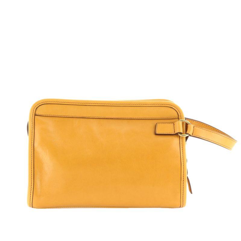 Large Travel Kit - Dark Yellow Ochre - Smooth Tumbled Leather