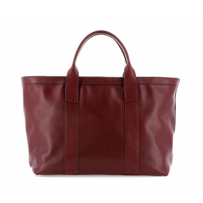 Large Working Tote - Oxblood - Tumbled Leather