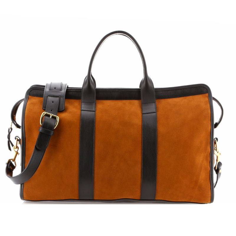 Signature Travel Duffle - Golden Oak/Black - Suede