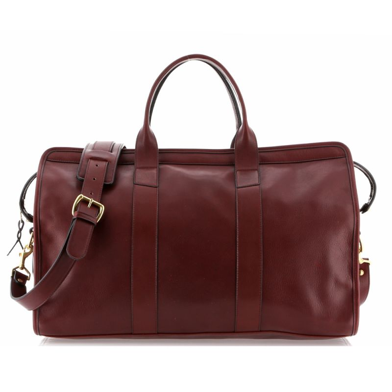 Signature Travel Duffle - Oxblood - Tumbled Leather